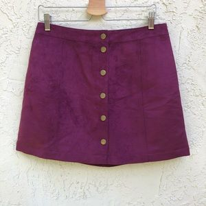 NWT Purple Button Up Skirt Old Navy